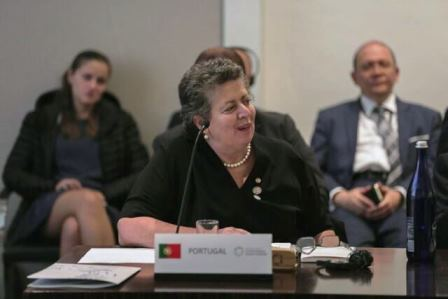 The Portuguese Minister of Sea, Ana Paula Vitorino, participated in the first meeting of the High Level Panel on Building a Sustainable Ocean Economy