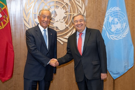 Secretary-General meets President of Portugal