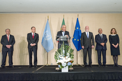 Reception by President of Portugal in honour of Secretary-General-designate António Guterres
